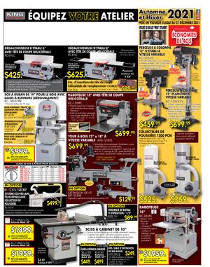 Machinerie à bois-AUTOMNE/HIVER - 2021